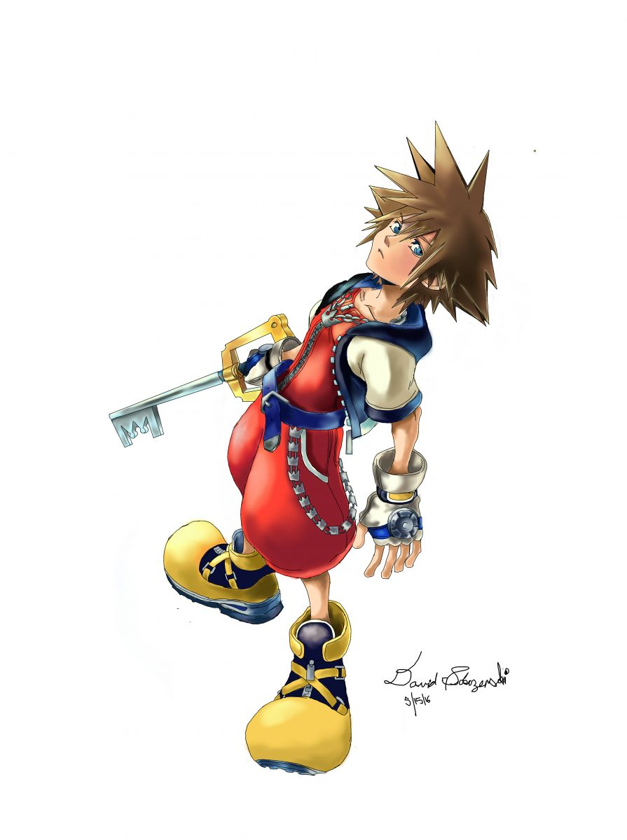 Sora Kingdom Hearts Chain Of Memories Drawings Kh13 For