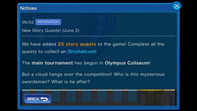 story quests olympus