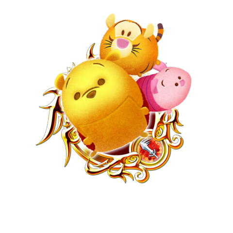 Tsum Tsum Medal - Pooh and Friends