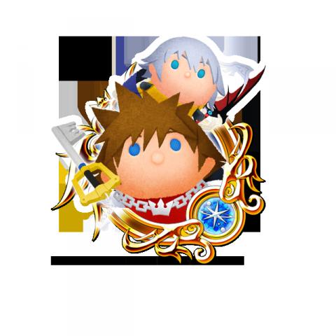 Tsum Tsum Medal - Sora and Riku