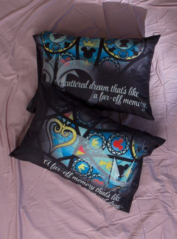 Kingdom Hearts Stained Glass Hot Topic bedding set 3