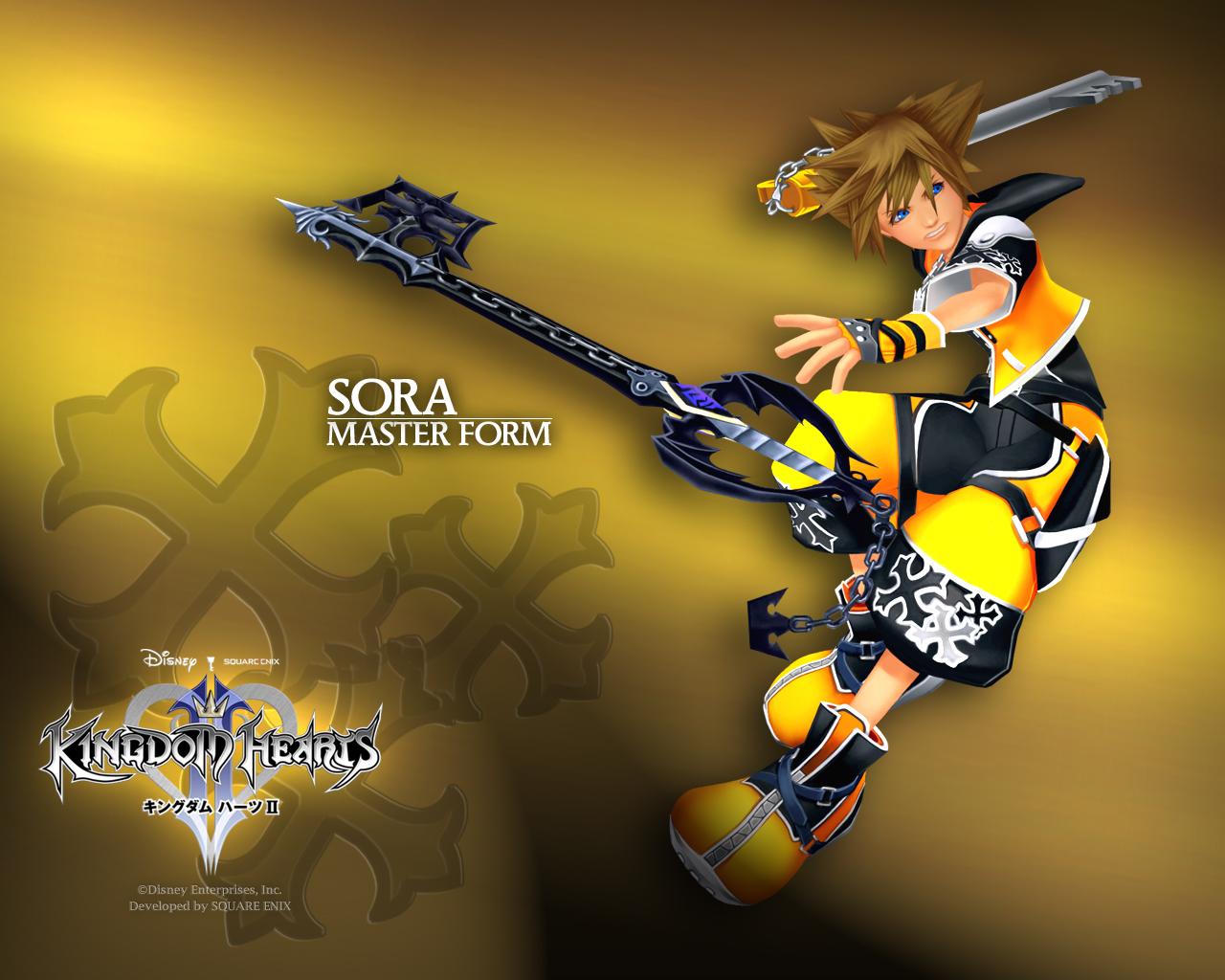 kingdom hearts sora master keyblade Kh2 form desktop 1280x1024 ...