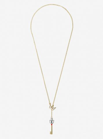 Kingdom Key D Keyblade Key Crown pull through necklace 2