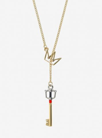 Kingdom Key D Keyblade Key Crown pull through necklace 1