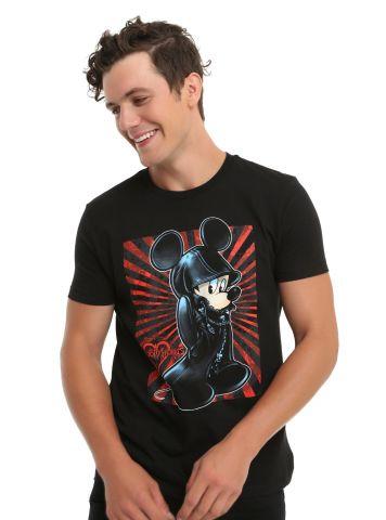 Kingdom Hearts King Mickey Black Coat T shirt 2