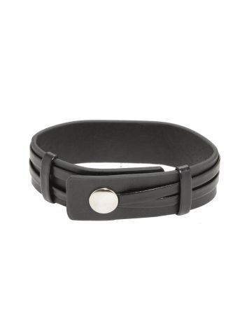 Kingdom Hearts Silver Heart black leather cuff 2