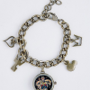 Kingdom Hearts Goldplated Charm Bracelet with Watch Charm