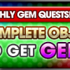 monthly Gem quest Feb