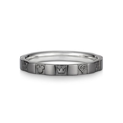 Monogram Ring Single K18 White Gold Black Coating