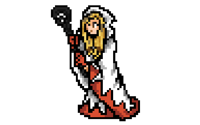 Mage Sprite Sheet White Mage 32 Bit Sprite