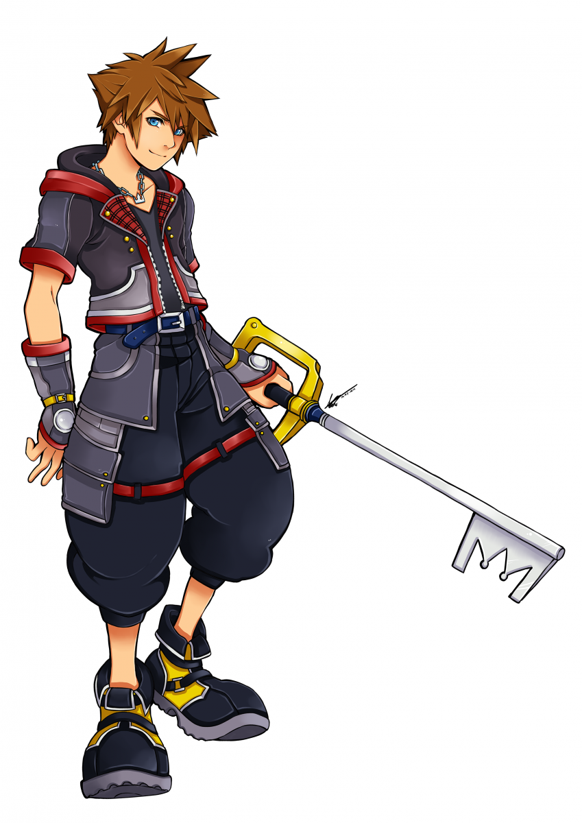 Sora Character Design Art Creative Media Kh13 For Kingdom Hearts