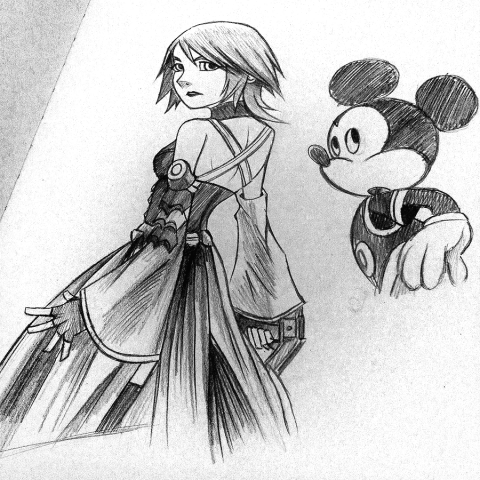Aqua Disney Ish Style Drawings Kingdom Hearts Gallery Kh13 Com