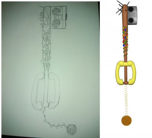 Friends Don't Lie Keyblade (Sketch To 3D Model)