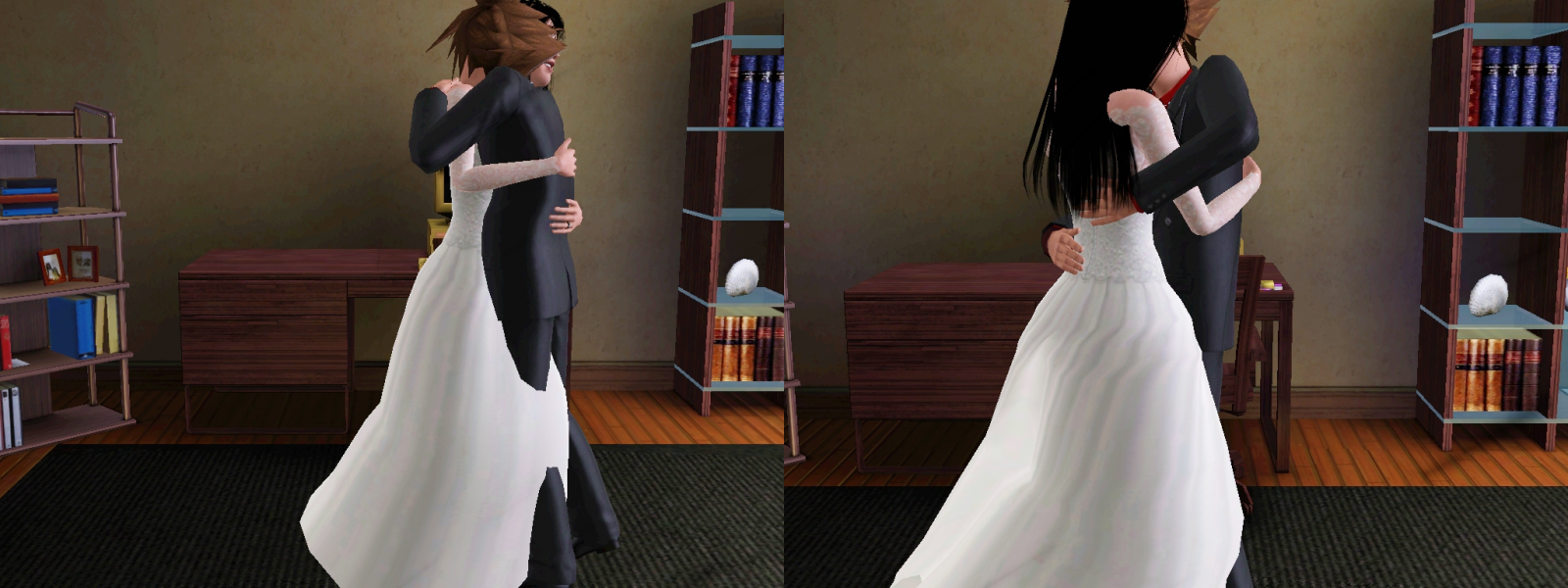 me and sora in wedding costume the sims 3