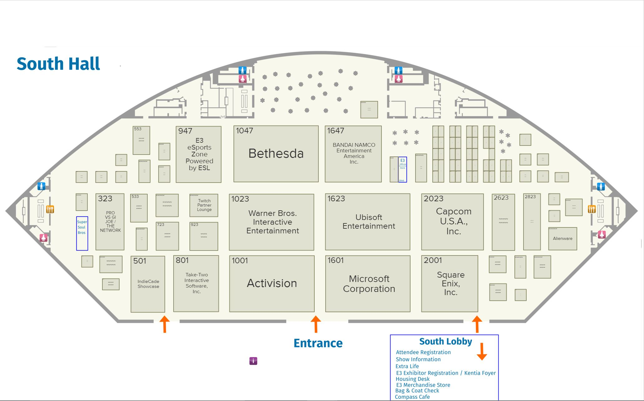 E3 2017 Floor Plans Have Been Revealed Kingdom Hearts News Kh13 For Kingdom Hearts