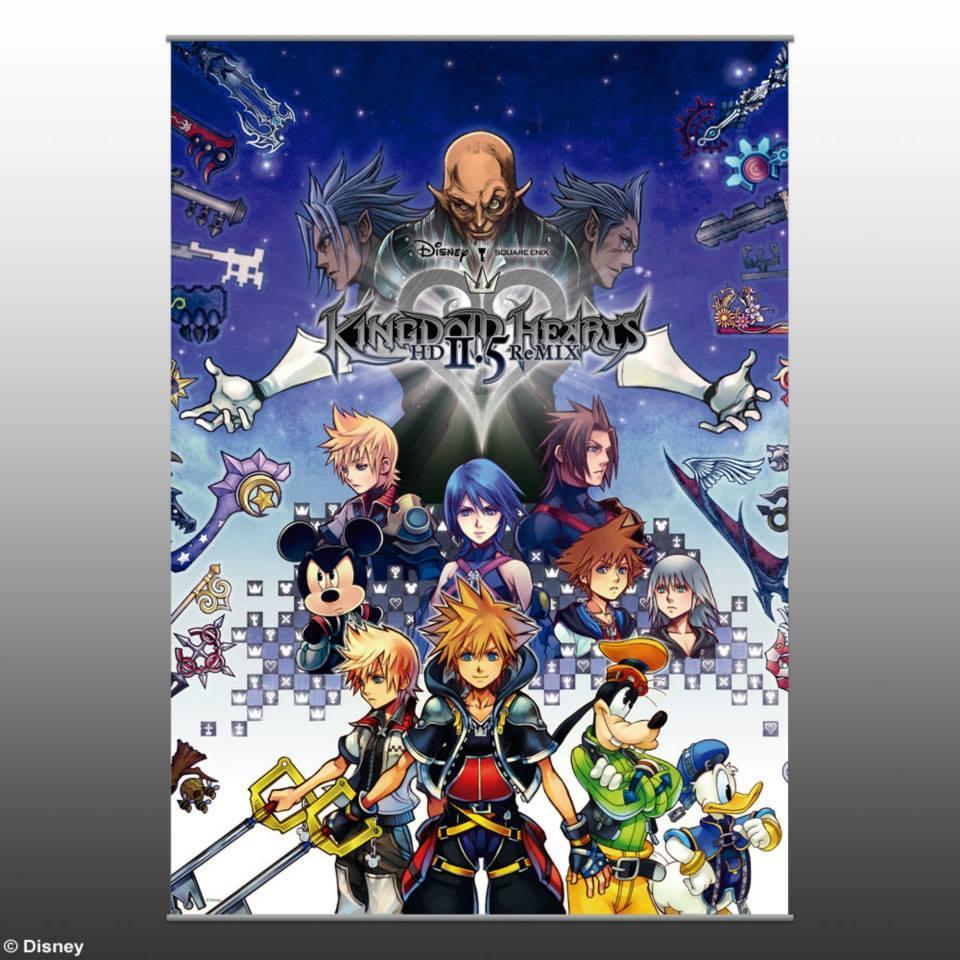 Kingdom Hearts HD 2.5 ReMIX wall scroll