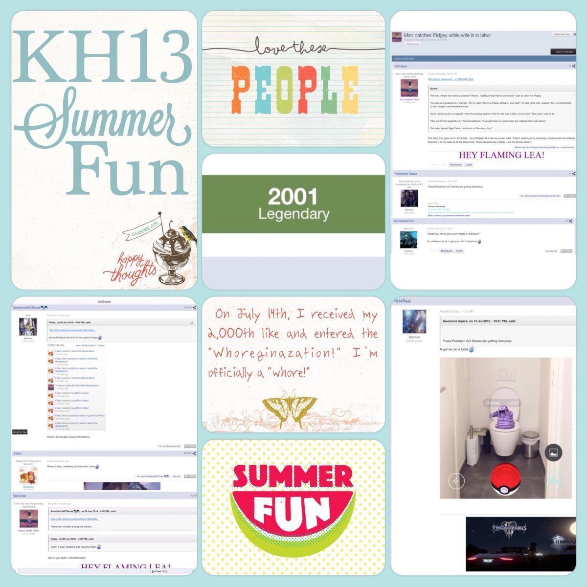 Summer Fun Scrapbook Page