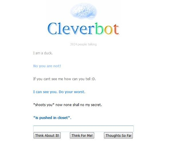 Strange chat i had with cleverbot O_o