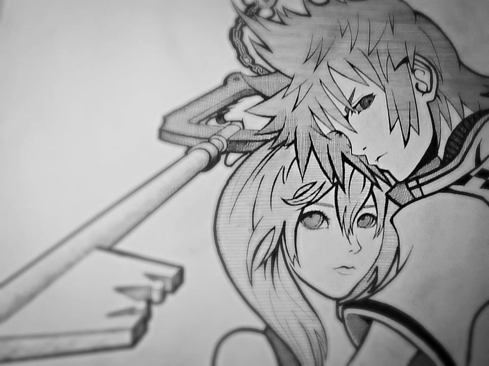 Roxas X Namine - Drawings - KH13 · for Kingdom Hearts