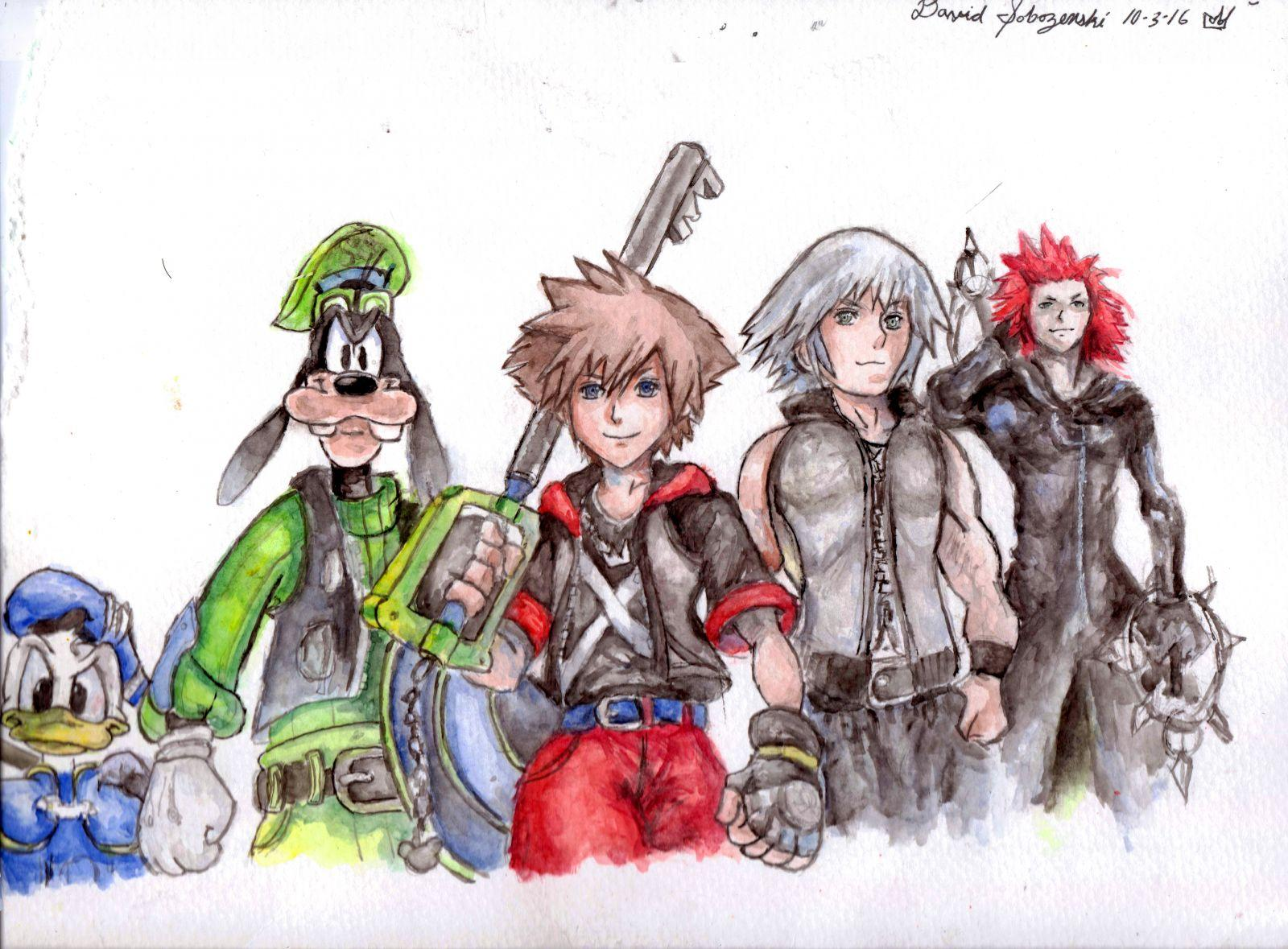Kingdom Hearts 2.8 Watercolor Painting