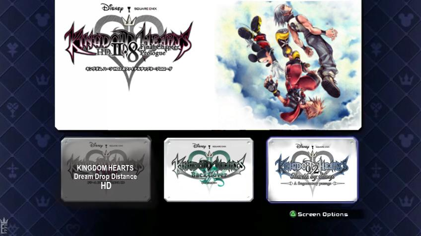 Kingdom Hearts HD 2.8 Title Screen
