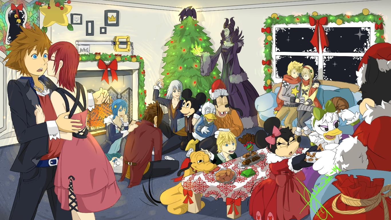 Kingdom Hearts Christmas entry ♡ Drawings ♡ KH13 · for Kingdom Hearts