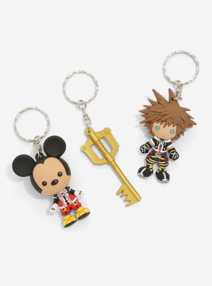 2017 San Diego Comic Con Exclusive Kingdom Hearts 3D Figure Key Rings - 3 Pc Set