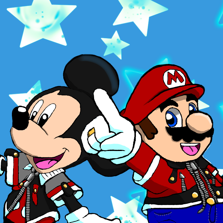 King Mickey and Mario (Full Color Version)