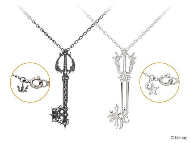 Kingdom Hearts Oathkeeper & Oblivion necklaces 9