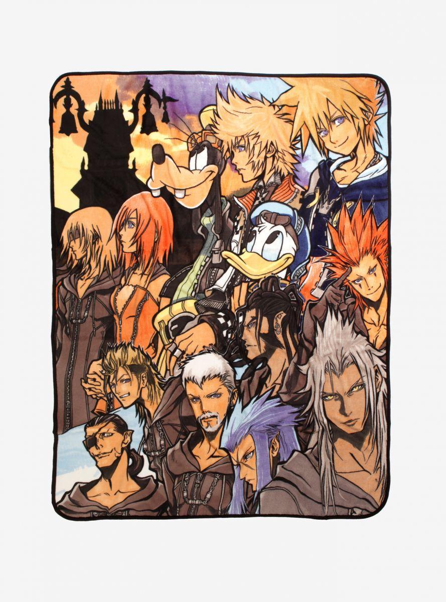 Kingdom Hearts Characters throw blanket