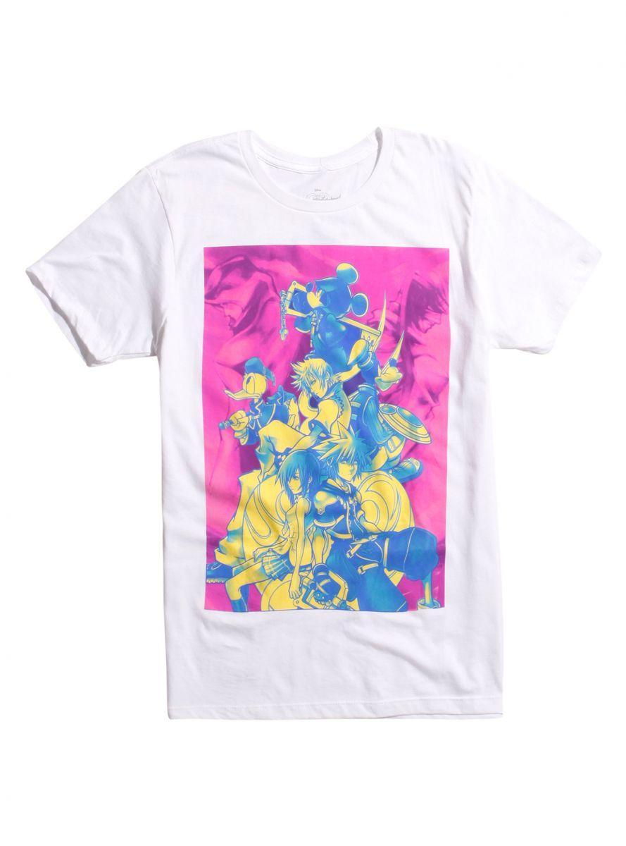 Kingdom Hearts Neon Group t-shirt 1