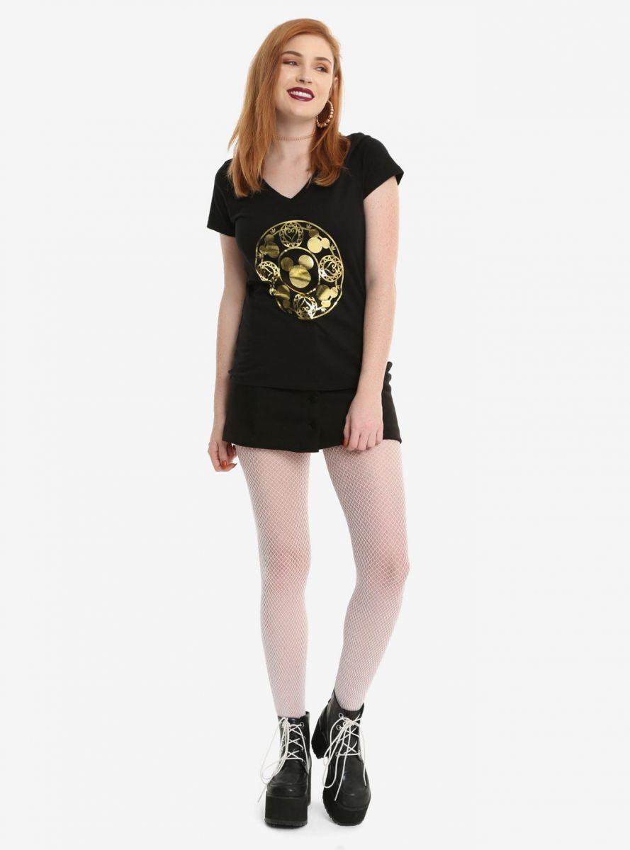 Kingdom Hearts Gold Foil girls v-neck t-shirt 2