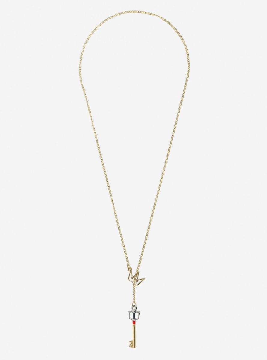 Kingdom Key D Keyblade Key Crown pull through necklace 2