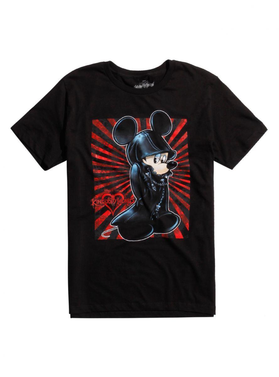 Kingdom Hearts King Mickey Black Coat T shirt 1
