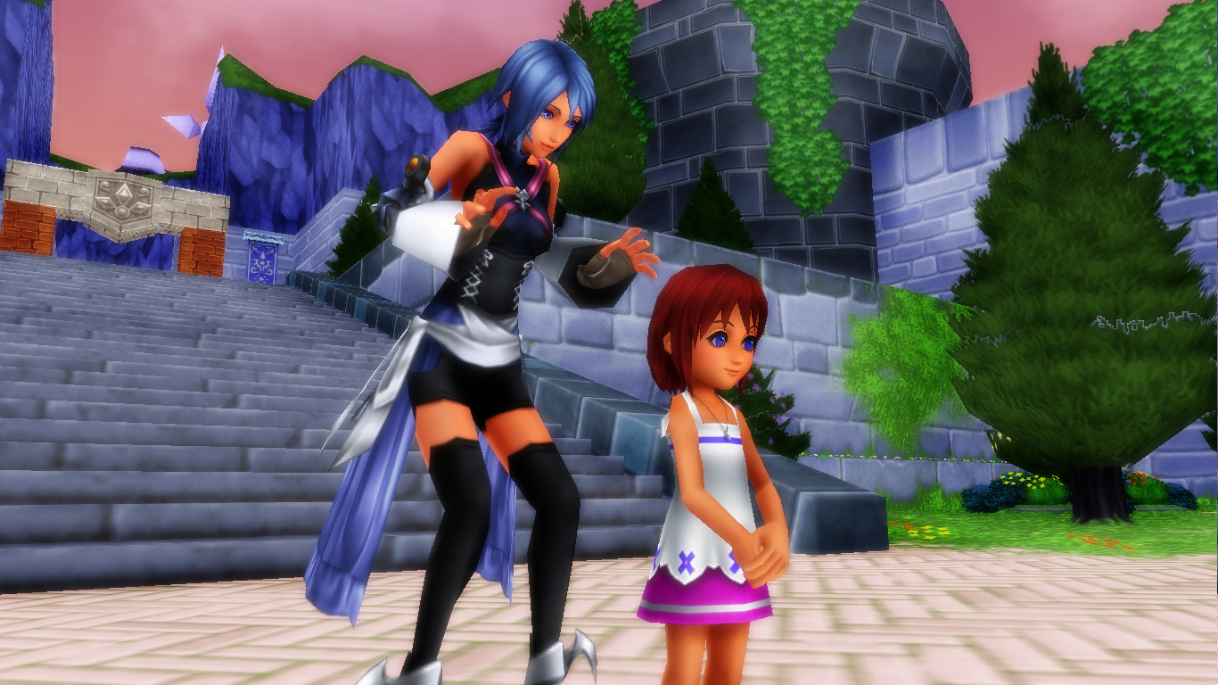 look behid You kairi Who Is On back