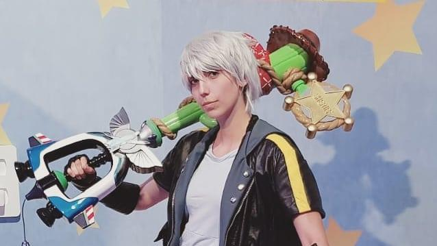 Riku Cosplay with Toy Story Keyblade