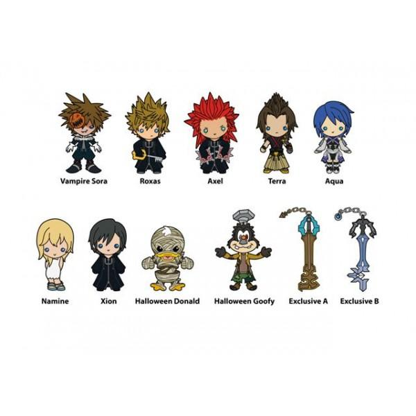 Kingdom Hearts 3D Foam Key Rings - Series 3