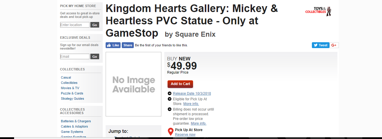 Mickey and Heartless PVC Figure Page