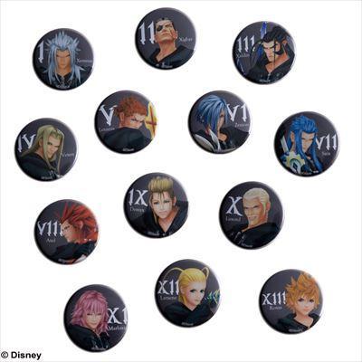 Kingdom Hearts Organization XIII Badge Set