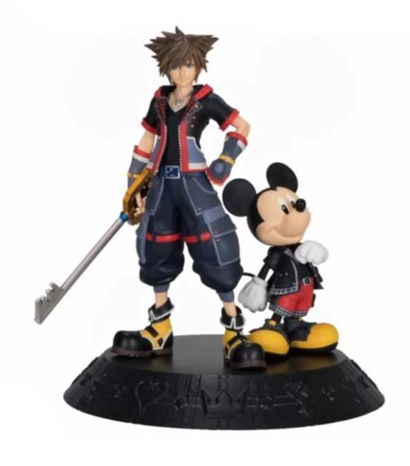 0016111 ichiban kuji kingdom hearts kuji sora And king mickey figurine Set Sora Mickey Statue