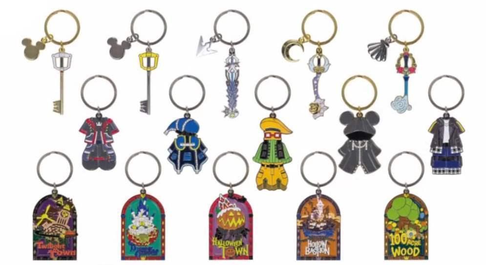 0016104 ichiban kuji kingdom hearts kuji metal keychains individuals Charm Collection