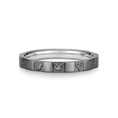 Monogram Ring Single Silver Black Coating