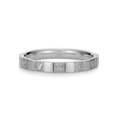 Monogram Ring Single K18 White Gold