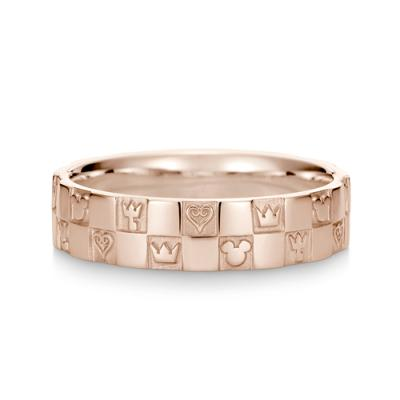 Monogram Ring Double K18 Pink Gold