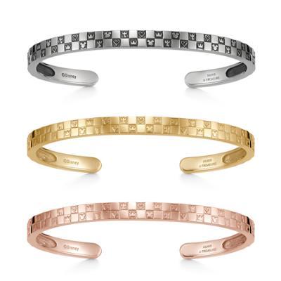 Monogram Bangle Double Silver Ibushi Yellow Gold Coating Pink Gold Coating