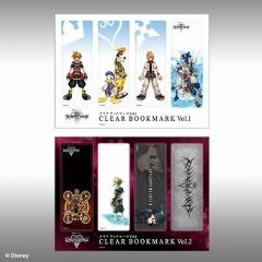 KINGDOM HEARTS II Clear Bookmark Vol.1.2 Set