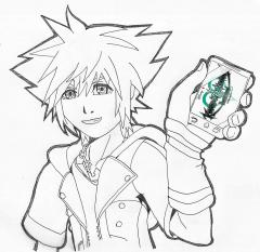 Sora with kingdom hearts chi