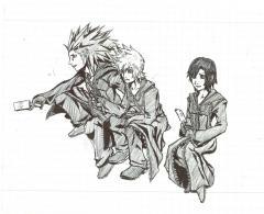 Axel ,Roxas y Xion