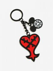 Disney Kingdom Hearts Heartless Logo Keychain
