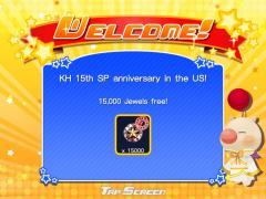 KH 15th SP anniversary in the US! - 15,000 Jewels free!